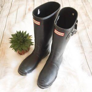 Hunter Black Huntress Rain Boots
